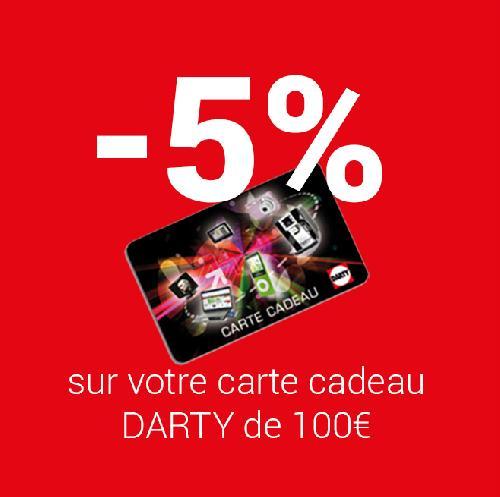 carte cadeau sur produits signalés darty